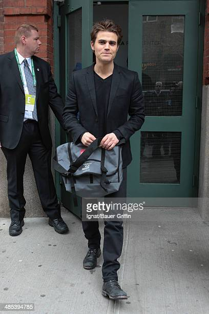 Paul Wesley is seen on April 17 2014 in New York City