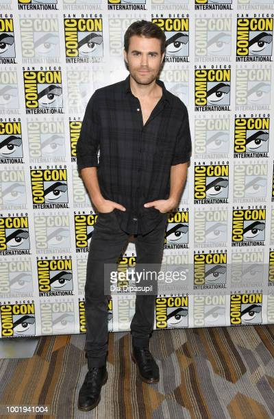 Paul Wesley of 'Tell Me a Story' attends CBS Television Studios Press Line during ComicCon International 2018 at Hilton Bayfront on July 19 2018 in...