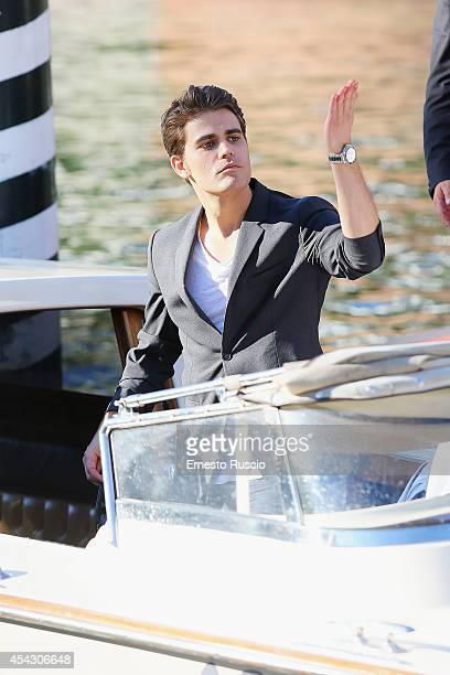 Paul Wesley sighting at Darsena of Excelsior Hotel on August 28 2014 in Venice Italy