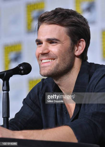 Paul Wesley speaks onstage at the Tell Me a Story panel during ComicCon International 2018 at San Diego Convention Center on July 19 2018 in San...