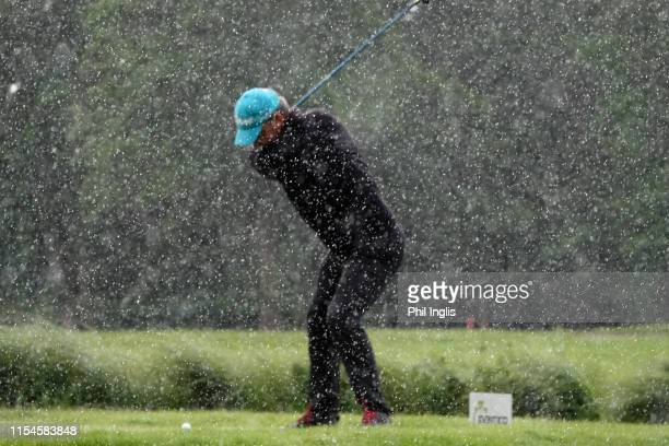 Paul Wesselingh of England in action during the second round of the Open Senior Hauts de France by Jean Van de Velde played at Arras Golf Resort on...