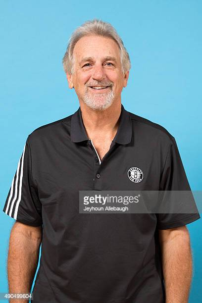 Paul Westphal assistant coach of the Brooklyn Nets poses for a photo during media day on September 28 2015 in East Rutherford NJ NOTE TO USER User...
