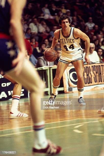 Paul Westphal of the Boston Celtics dribbles the ball during a game played circa 1974 at the Boston Garden in Boston Massachusetts NOTE TO USER User...
