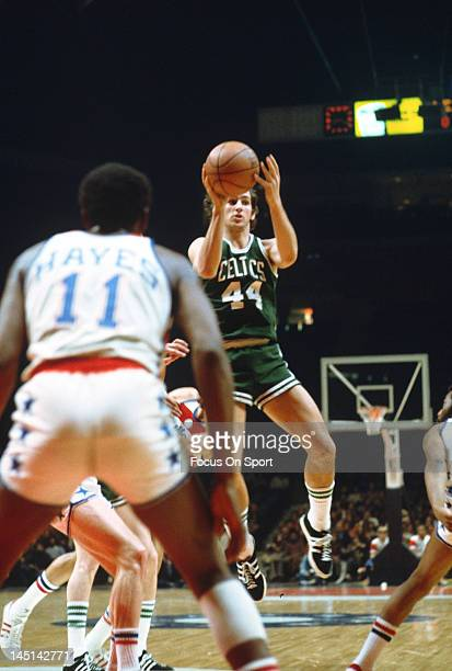 Paul Westphal of the Boston Celtics in action against the Washington Bullets during an NBA basketball game circa 1975 at the Capital Centre in...