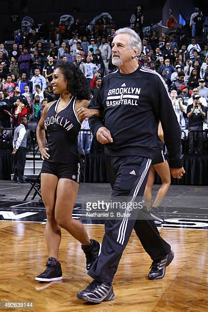 Paul Westphal of the Brooklyn Nets walks out before the Open Practice on October 11 2015 at Barclays Center in Brooklyn NY NOTE TO USER User...