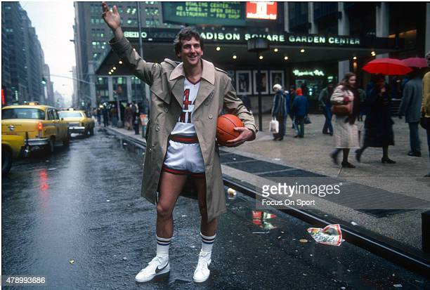 Paul Westphal of the New York Knicks poses for the portrait out in from of Madison Square Garding circa 1982 in the Manhattan borough of New York...