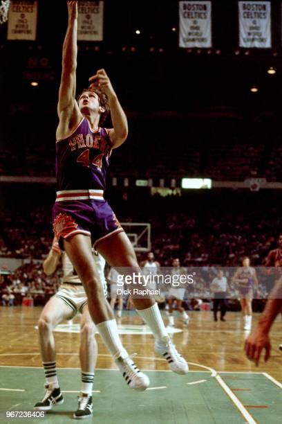 Paul Westphal of the Phoenix Suns goes to the basket against the Boston Celtics circa 1978 at the Boston Garden in Boston Massachusetts NOTE TO USER...