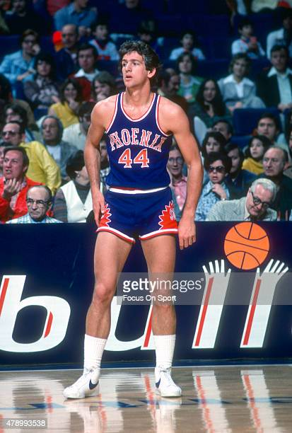 Paul Westphal of the Phoenix Suns looks on against the Washington Bullets during an NBA basketball game circa 1977 at the Capital Centre in Landover...