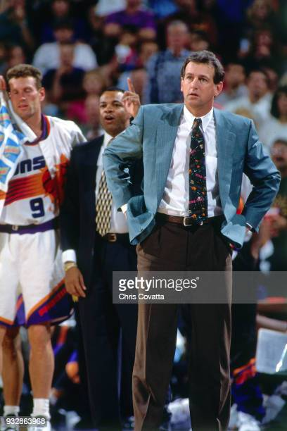 Paul Westphal of the Phoenix Suns looks on during a game on March 13 1994 at America West Arena in Phoenix Arizona NOTE TO USER User expressly...