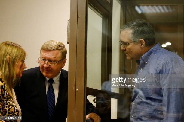 Paul Whelan charged with espionage arrives for his trial at a court in Moscow Russia on January 22 2019