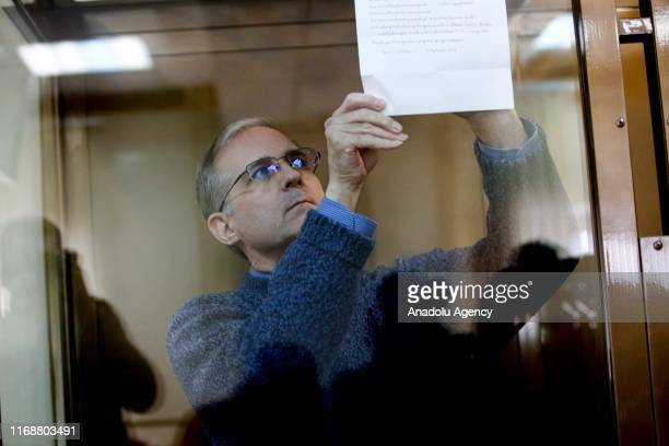 Paul Whelan charged with espionage arrives for his trial at a court in Moscow Russia on September 17 2019