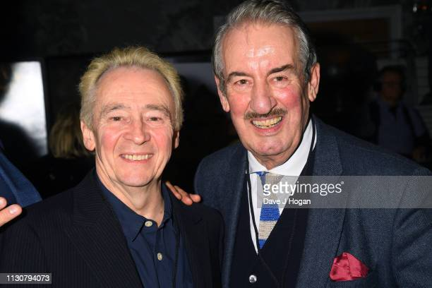 Paul Whitehouse and John Challis attend the after show party following the opening night of Only Fools and Horses The Musical at Theatre Royal...
