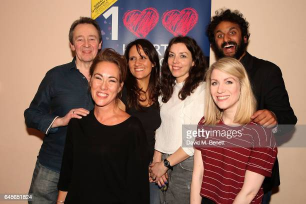 Paul Whitehouse Melinda Hughes Nina Conti Bridget Christie Rachel Parris and Nish Kumar attend the 100 Hearts charity gala in aid of the Royal...