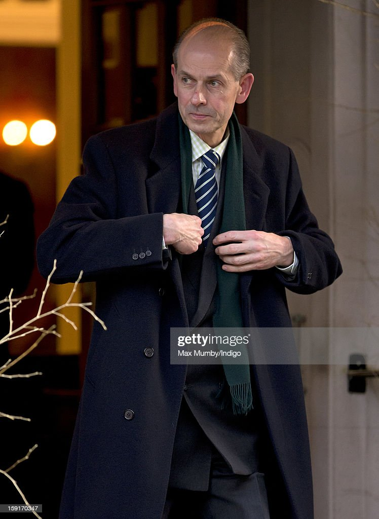 Paul Whybrew (Queen Elizabeth II's page) leaves the Goring Hotel after attending a Christmas Lunch hosted by Queen Elizabeth II for her close members of staff on December 03, 2012 in London, England.