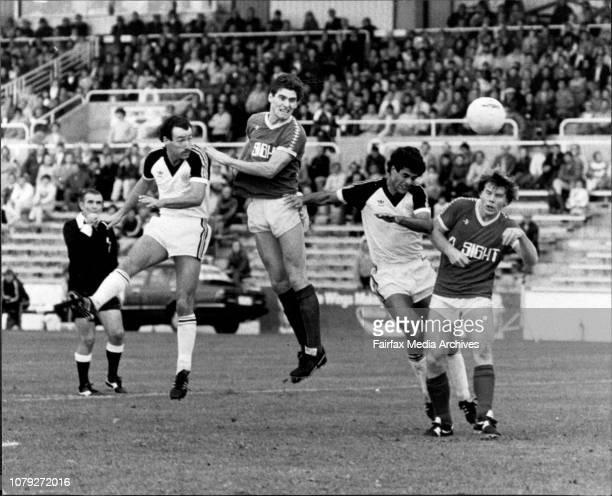 Paul Wilkinson St GeorgePSL Soccer at Berton Park St George vs Heidelberg June 05 1983