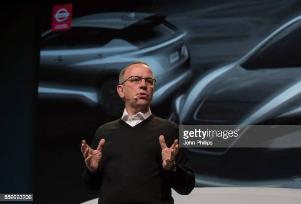 Paul Willcox Chairman of Nissan Europe unveils his vision for the future of electric vehicles at NissanÕsÊFuturesÊevent at the DogANorwegian Centre...