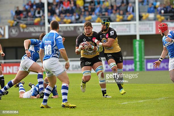 Paul Willemse from Montpellier in action during the game between Montpellier Herault Rugby v Newport Gwent Dragon at Altrad Stadium on April 23 2016...