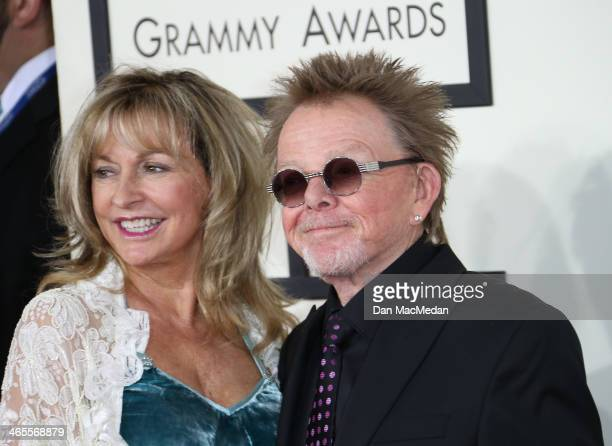 Paul Williams and Mariana Williams arrive at the 56th Annual GRAMMY Awards at Staples Center on January 26 2014 in Los Angeles California