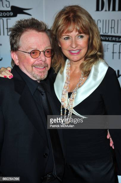 Paul Williams and Mariana Williams attend Songwriters Hall of Fame 40th Anniversary Induction Ceremony and Gala at Marriott Marquis Hotel NYC on June...