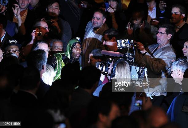 Paul Williams enters the ring before his fight against Sergio Martinez for the Middleweight Championship fight on November 20 2010 at The Boardwalk...