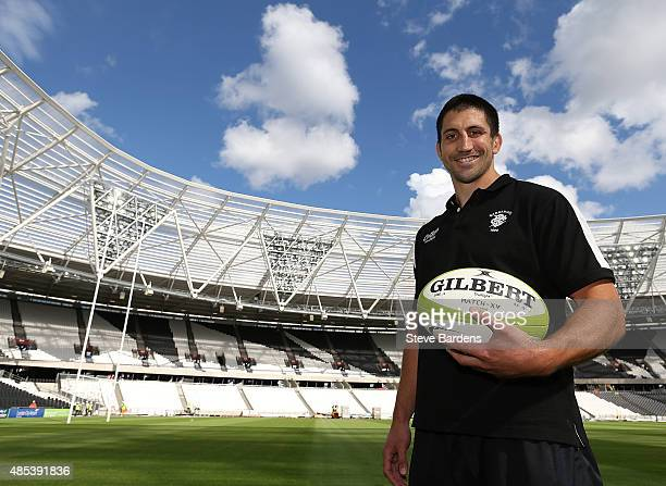 Paul Williams of the Barbarians poses for a portrait after a kicking session for the Barbarians players at the Olympic Stadium on August 27 2015 in...