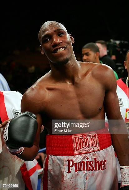 Paul Williams poses after his fight against Santos Pakau of New Zealand after their welterweight fight at the Mandalay Bay Events Center November 4...