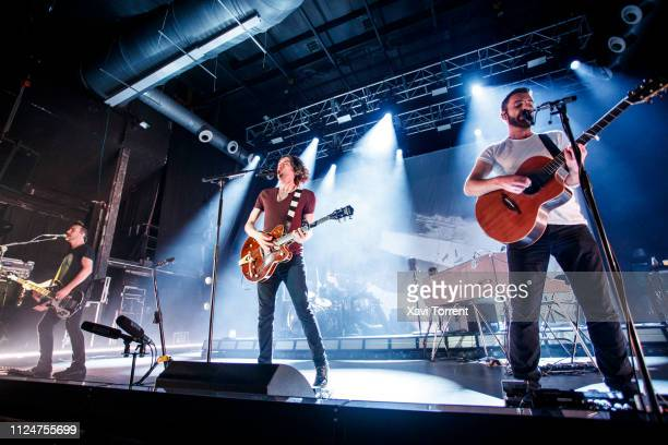 Paul Wilson, Gary Lightbody and Johnny McDaid of Snow Patrol perform in concert at Razzmatazz on February 13, 2019 in Barcelona, Spain.