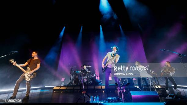 Paul Wilson Jonny Quinn Gary Lightbody Johnny McDaid and Nathan Connolly of Snow Patrol perform onstage at Queen Elizabeth Theatre on May 13 2019 in...