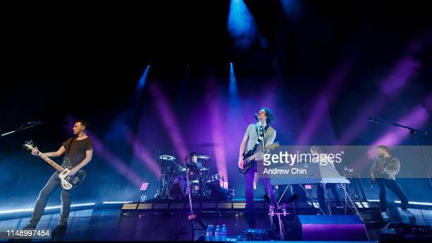 Paul Wilson Jonny Quinn Gary Lightbody Johnny McDaid and Nathan Connolly of Snow Patrol perform on stage at Queen Elizabeth Theatre on May 13 2019 in...