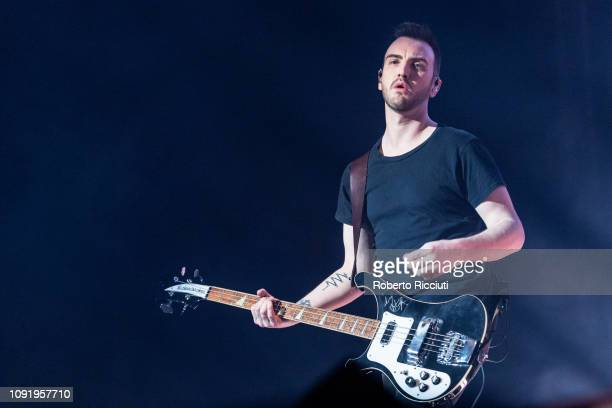 Paul Wilson of Snow Patrol performs on stage at The SSE Hydro on January 31, 2019 in Glasgow, Scotland.