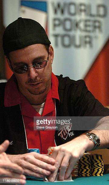 Paul Wolfe competes in day two of the World Poker Tour's Doyle Brunson North American Poker Championship at the Bellagio Hotel in Las Vegas Nevada...