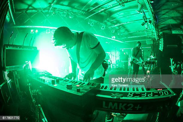 Paul Wolinski of 65daysofstatic performs in concert on October 24 2016 in Barcelona Spain