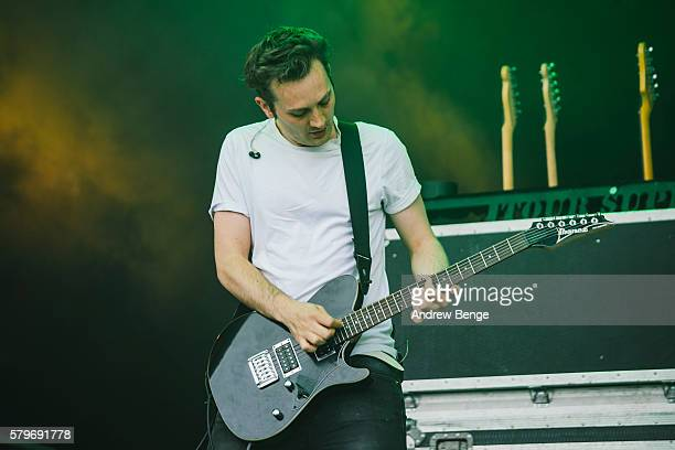 Paul Wolinski of 65daysofstatic performs on the main stage during day 3 of BlueDot Festival 2016 at Jodrell Bank on July 24 2016 in Manchester England
