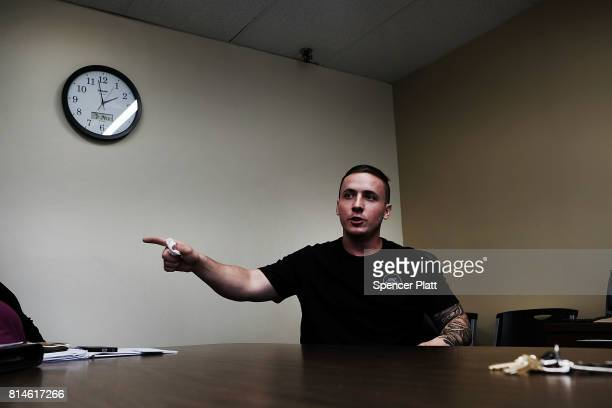 Paul Wright a recovered heroin addict speaks to staff at the Neil Kennedy Recovery Center on July 14 2017 in Youngstown Ohio One of the oldest...