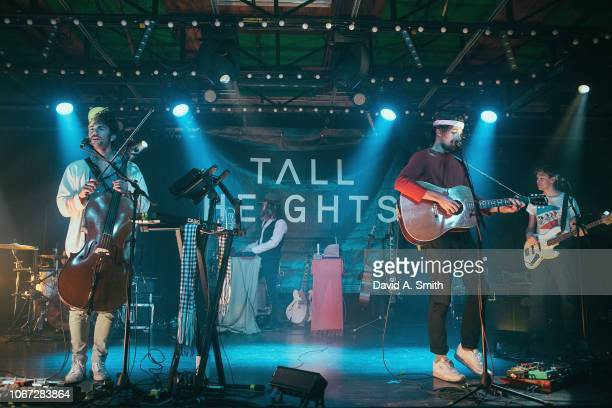 Paul Wright and Tim Harrington of Tall Heights perform at Saturn Birmingham on November 13 2018 in Birmingham Alabama