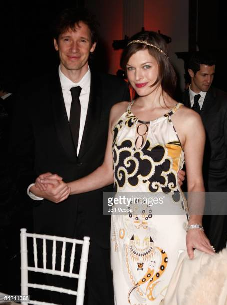 Paul W.S. Anderson and actress Milla Jovovich attend The Art of Elysium 2nd Annual Heaven Gala held at Vibiana on January 10, 2009 in Los Angeles,...