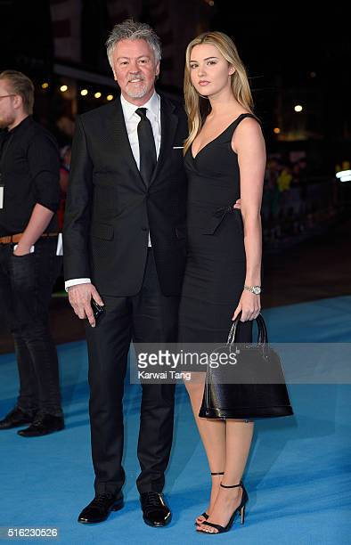 Paul Young and Layla Young arrive for the European premiere of 'Eddie The Eagle' at Odeon Leicester Square on March 17 2016 in London England