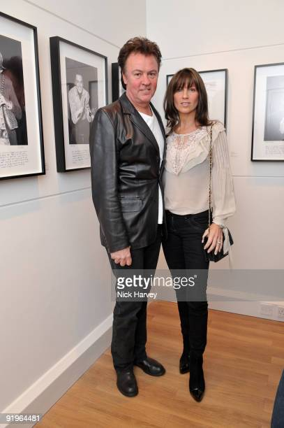 Paul Young and Stacey Young attend the private view for 'Once Upon A Time' on October 16 2009 in London England