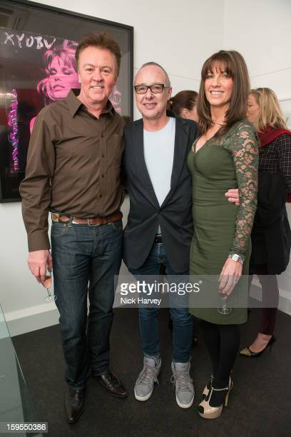 Paul Young Bruno Bisang and Stacey Young attend the private view of Bruno Bisang 30 Years of Polaroids at The Little Black Gallery on January 15 2013...