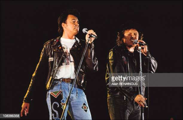Paul young zucchero in Paris France on September 21 1991