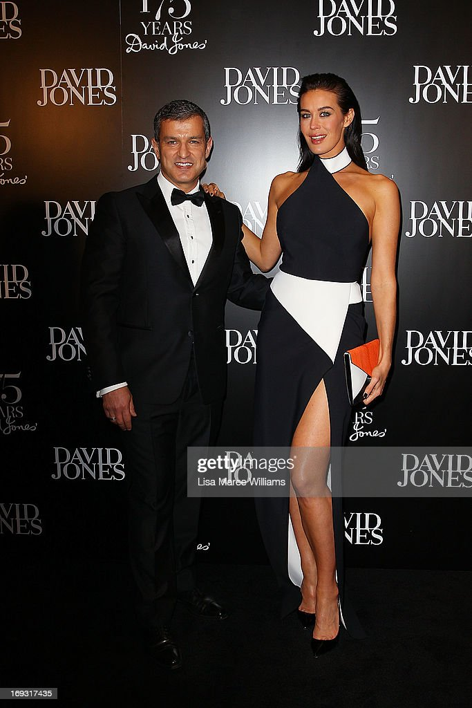 Paul Zahra and Megan Gale attends the David Jones 175 year celebration at David Jones on May 23, 2013 in Sydney, Australia.
