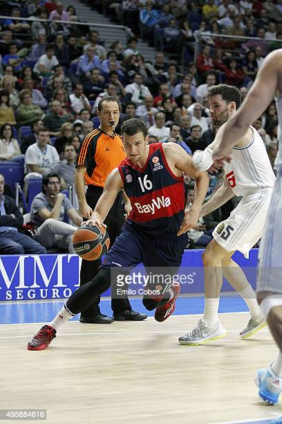 Paul Zipser #16 of FC Bayern Munich in action during the Turkish Airlines Euroleague Basketball Regular Season date 4 game between Real Madrid v FC...