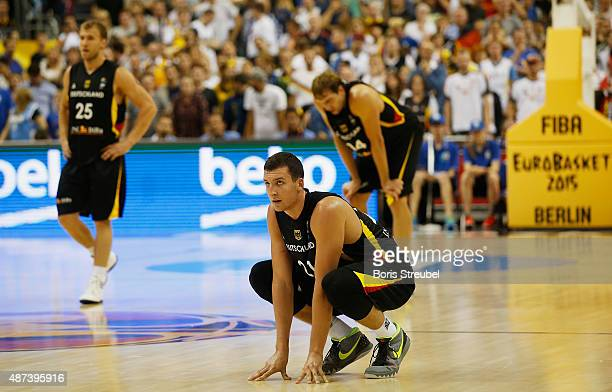 Paul Zipser of Germany looks dejected after losing the FIBA EuroBasket 2015 Group B basketball match between Italy and Germany at Arena of EuroBasket...