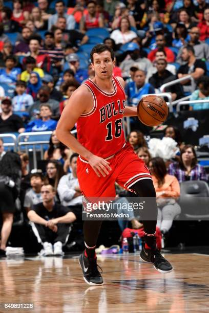 Paul Zipser of the Chicago Bulls handles the ball against the Orlando Magic on March 8 2017 at Amway Center in Orlando Florida NOTE TO USER User...