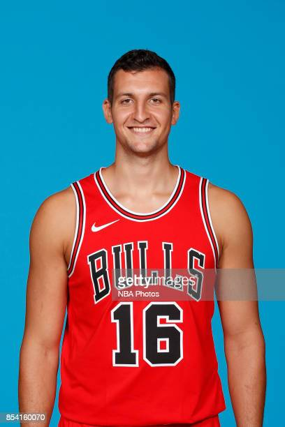 Paul Zipser of the Chicago Bulls poses for a head shot during NBA Media Day on September 25 2017 at the Advocate Center in Chicago Illinois NOTE TO...