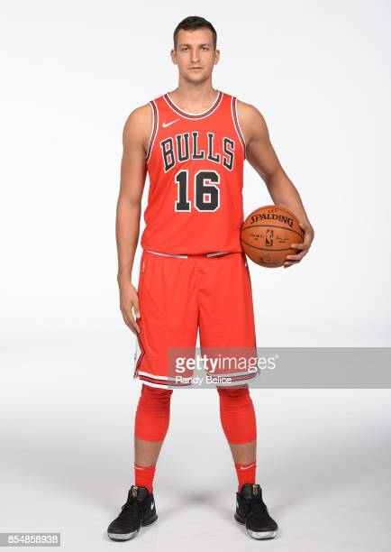 Paul Zipser of the Chicago Bulls poses for a portrait during the 201718 NBA Media Day on September 25 2017 at the United Center in Chicago Illinois...
