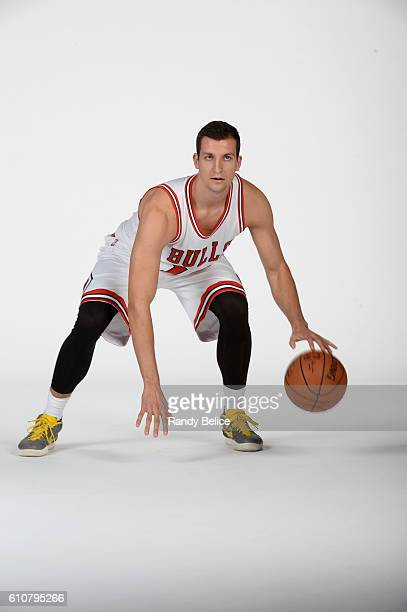 Paul Zipser of the Chicago Bulls poses for a portrait during the 20162017 Chicago Bulls Media Day on September 26 2016 at the Advocate Center in...