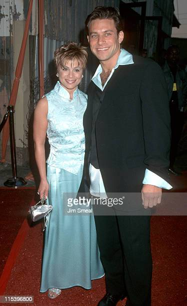 Paula Abdul and Brad Beckerman during APLA Fashion Event Honors Todd Oldham at Bergamont Station in Santa Monica California United States