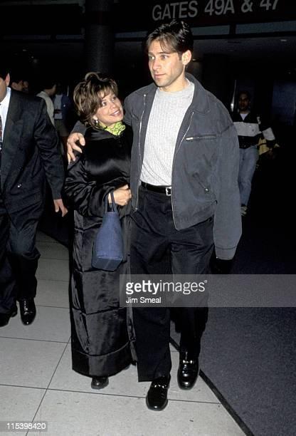 Paula Abdul and Brad Beckerman during Paula Abdul and Brad Beckerman at Los Angeles International Airport April 2 1997 at Los Angeles International...