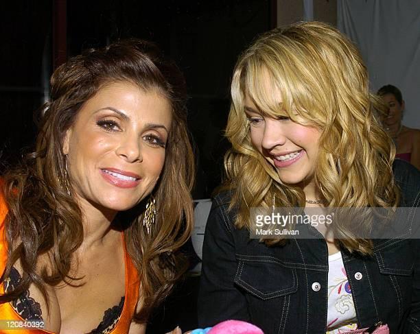Paula Abdul and Diana DeGarmo in Backstage Creations Talent Retreat